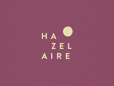 Hazelaire lockup typogaphy identity logo branding
