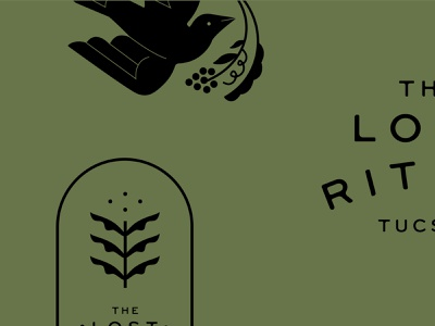 The Lost Ritual branding typography brand mark minimalist lockup logo branding cocktail bar food and beverage food and drink restaurant packaging illustration