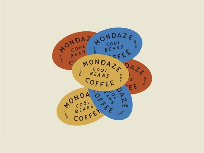 Mondaze Coffee typography wordmark coffee shop coffeeshop cafe vector branding and identity indie sticker food and beverage packaging print coffee logo branding