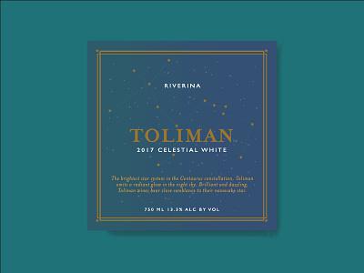 Toliman Australian Wine print illustration packaging label wine
