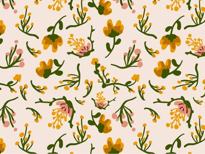 Thinking spring surface design pattern floral