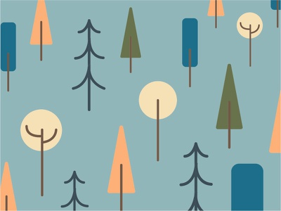 Tree Pattern print packaging label illustration pattern vector