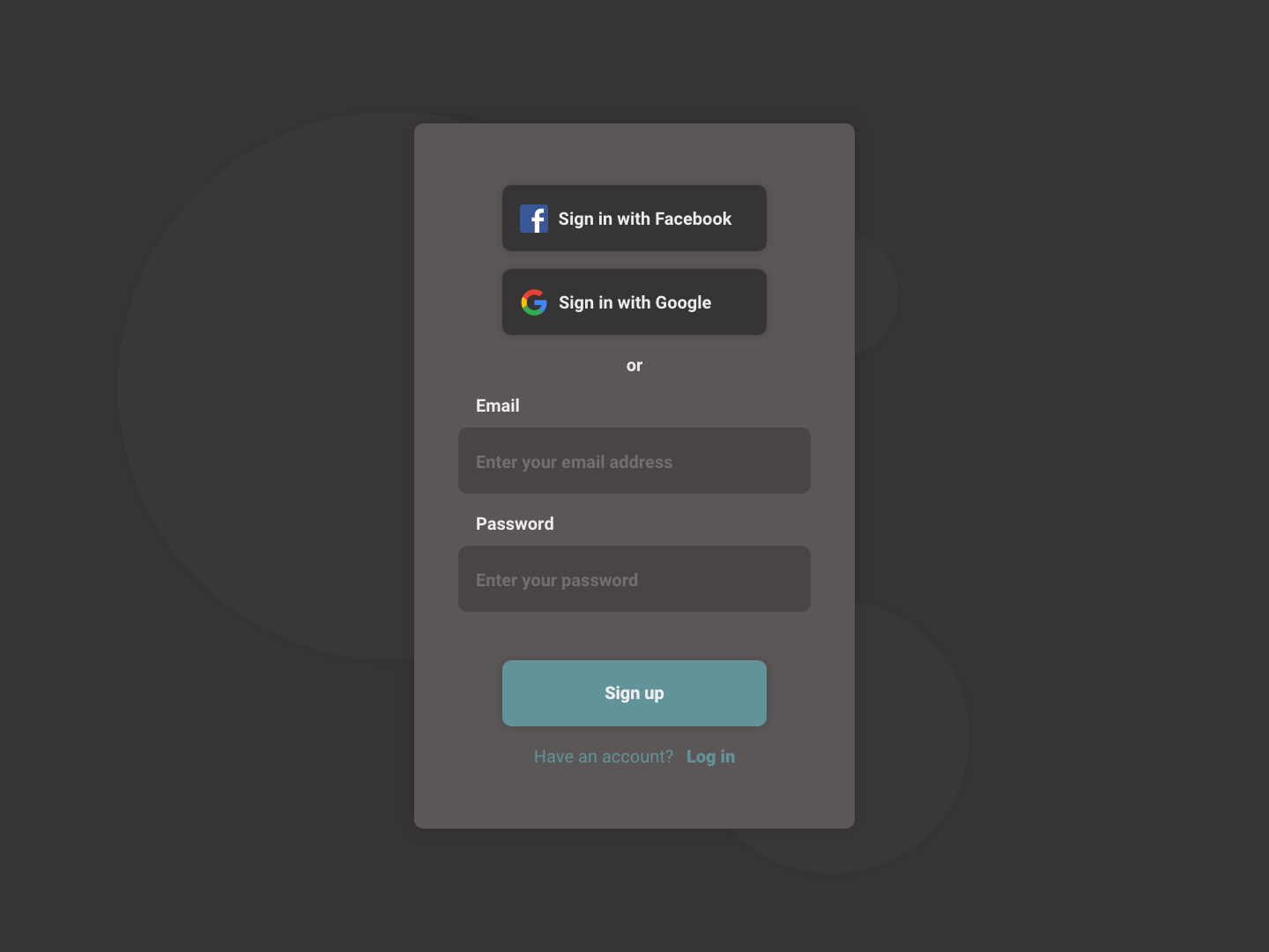 Daily UI #001 - Sign Up sign up daily challange daily ui