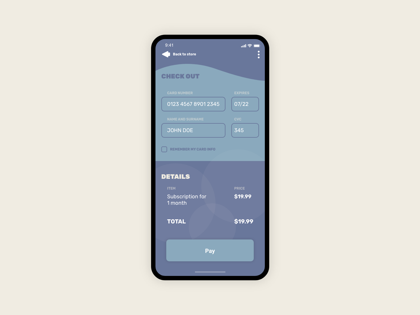 Daily UI #002 - Check Out Page payment checkout daily ui daily challange