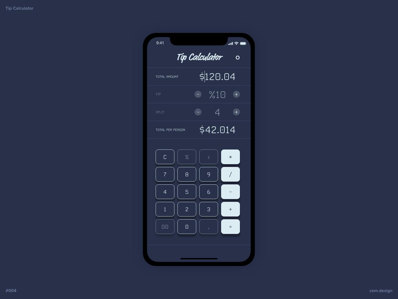 Daily UI #004 - Calculator calculator daily ui daily challange adobe xd ui design