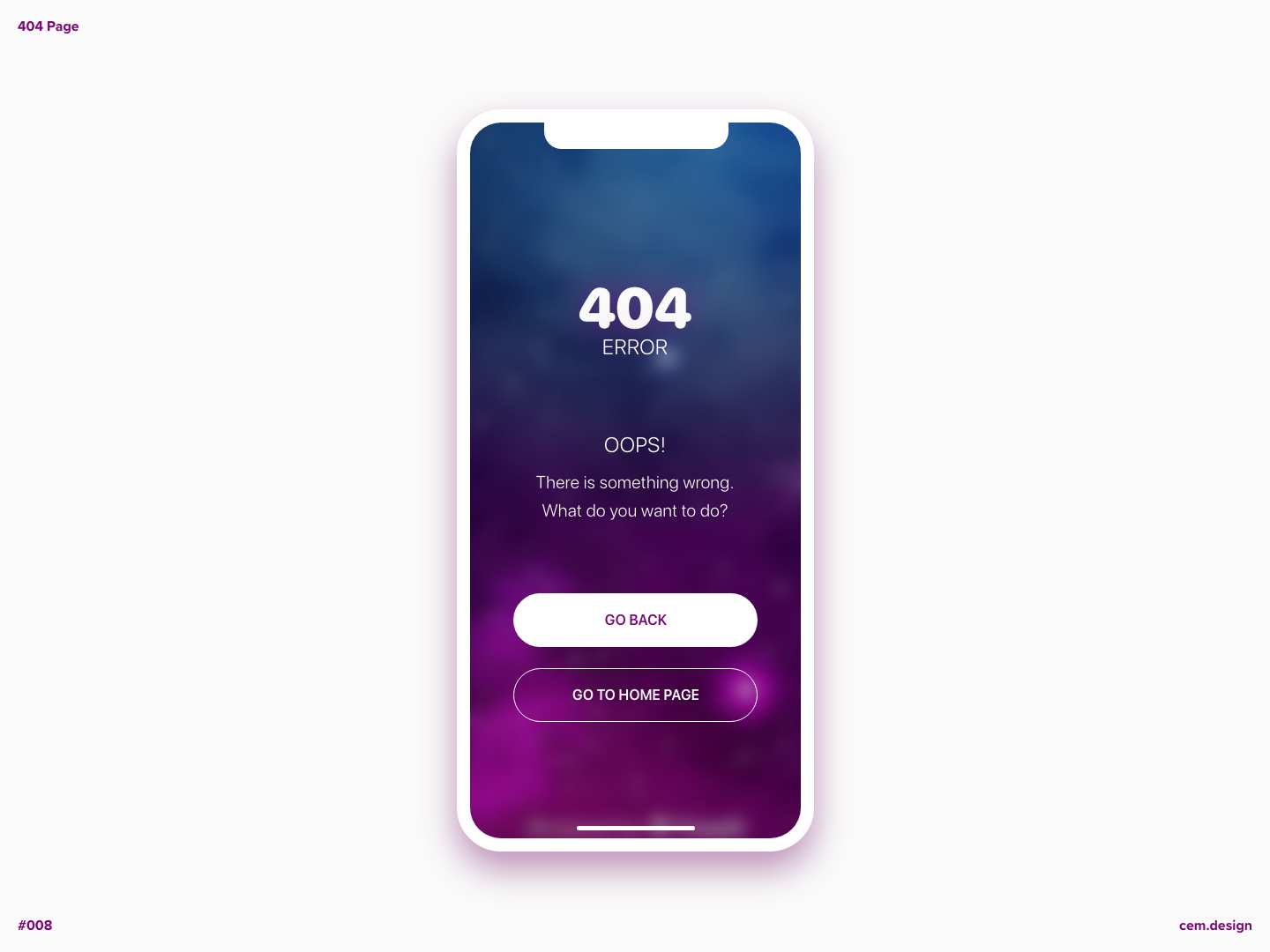 Day 008 - 404 Page adobe photoshop 404 page daily ui daily challange adobe xd ui design