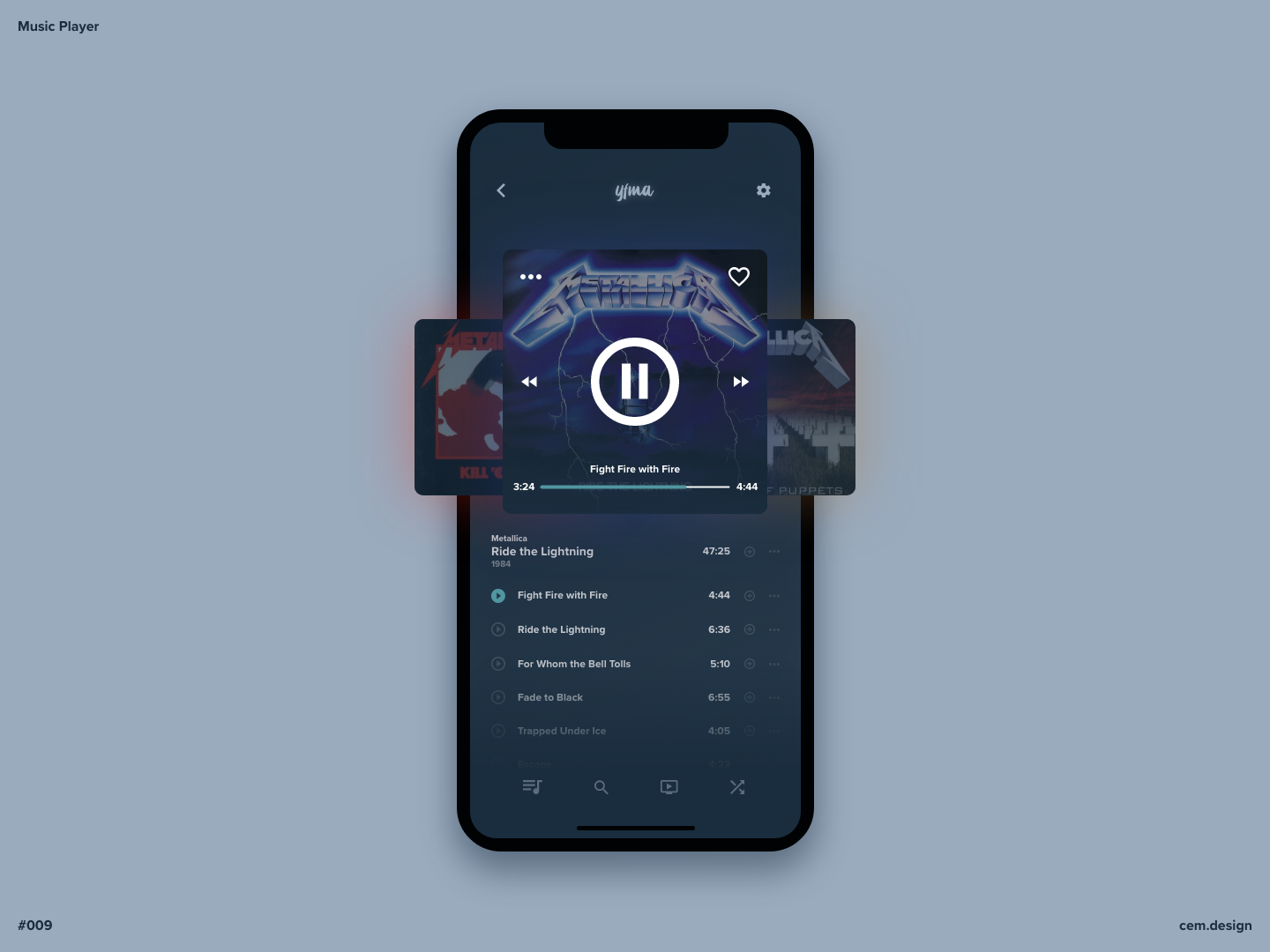 Day 009 - Music Player dailyui ui design app music player music app daily ui