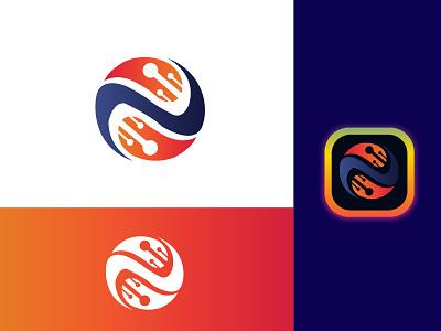 IT Company logo design  | technology logo gradient logo logos flat logo identidade visual tech technology logo it company logo design logo icon design branding