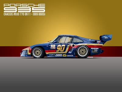 Porsche 935 K3 - Commissioned Illustration illustration vector illlustration design