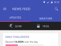 News feed scroll