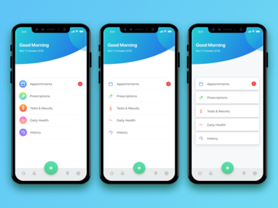 Healthcare App - Homepage