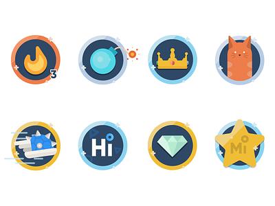 Midrive Badges/Medals vector mobile illustration app achievements badges