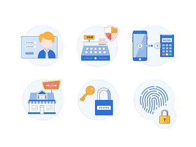 Merchant payments bluetooth account touch id store security cash register checkout business payment sale merchant