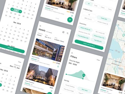 TripAdvisor Redesign Concept - Part 2 tripadvisor uiux booking hotel trip travel app travel ios 10 ios card design chart app mobile