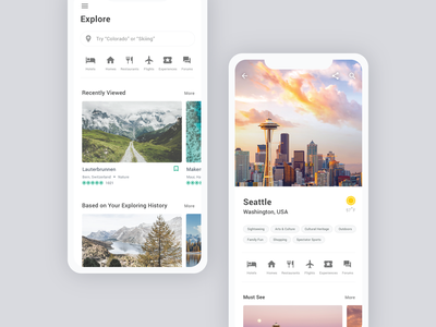 TripAdvisor Redesign Concept - Part 3 destination discover explore ios 12 ios 10 ios city card travel app trip travel uiux mobile design app