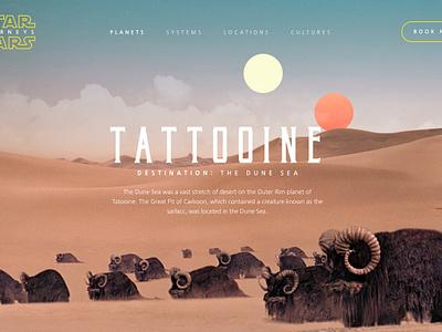 Star Wars Journeys star wars design interaction design motion design ui design web design travel invision studio star wars