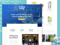 Holiday Partay Landing Page