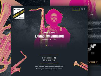 Burlington Discover Jazz btv vermont burlington discojazz burlington discover jazz ui design web design