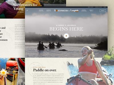 Northwaters & Langskib btv vermont burlington outdoors wilderness canoe ui design web design