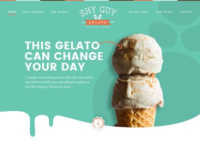 Gelato Single Page landing page single page website gelato design ui btv ui design web design