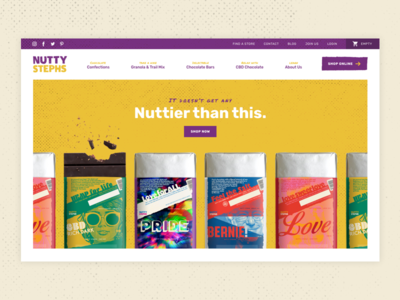 Nutty Stephs Concept chocolate ui burlington vermont ui design web design