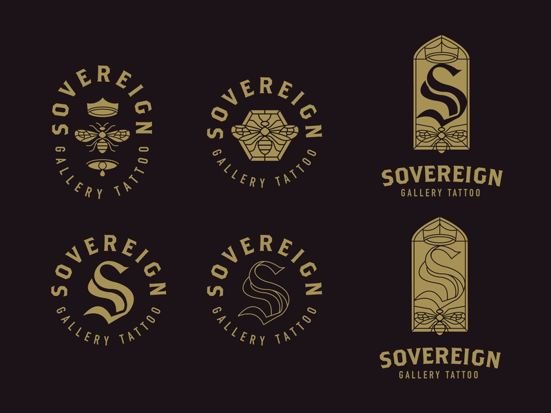 Sovereign Gallery Logo Concept logo designer logos logotype logo mark logo design logodesign stained glass s bee logo