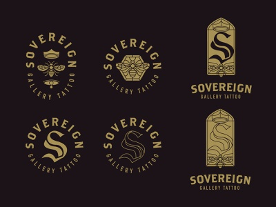 Sovereign Gallery Logo Concept logo designer logos logotype logo mark logo design logodesign stained glass s bee logo