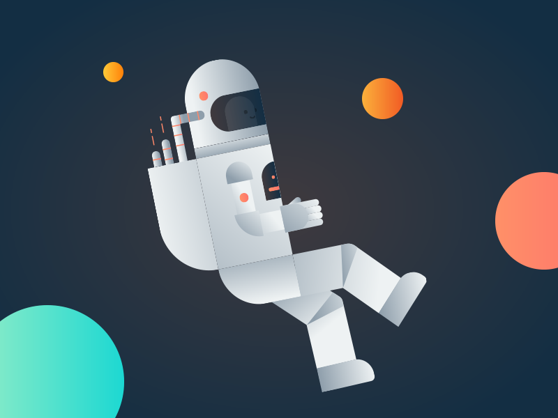 That Astro-Man we all love ux galaxy illustration youitv sci-fi space man astro