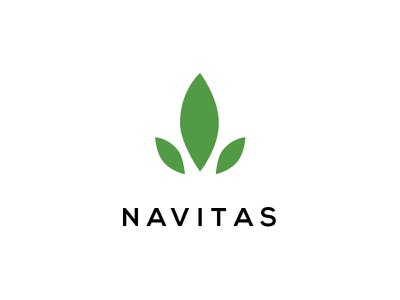 Navitas - Logo design  dubai navitas sustainable green energy solar logo