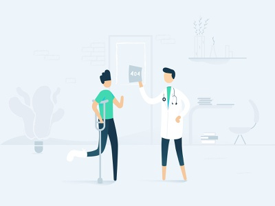 It's a 404 my friend doctor foot broken foot 404 404 error 404page connected devices health withings design fun illustration