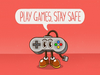 PLAY GAMES, STAY SAFE isolation covid19 coronavirus stay safe video games shoes cute cartoon character disney vintage controller game controller super nintendo snes nintendo game games gaming