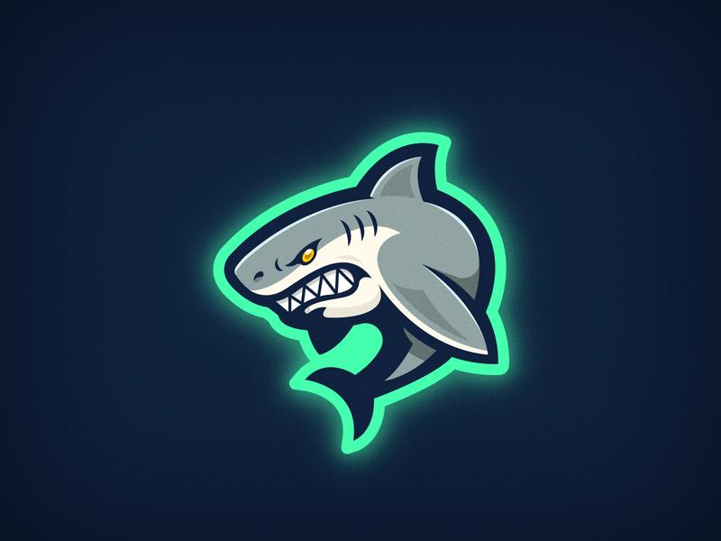 Shark Logo mascotlogo mascot video game gaming water ocean animal minimal shark logo esports shark