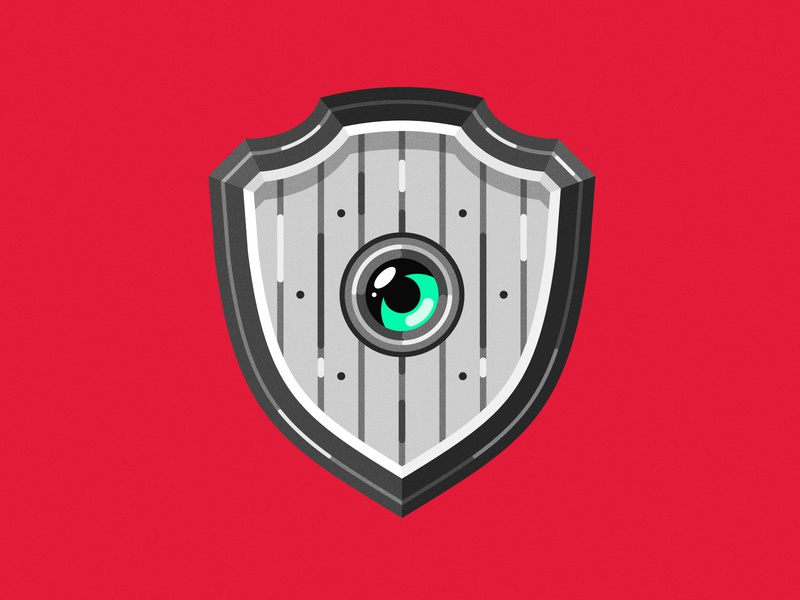 Little Shield video games weapon fantasy dungeons and dragons gamer gaming flatdesign flat minimalist logo minimalist minimal shield