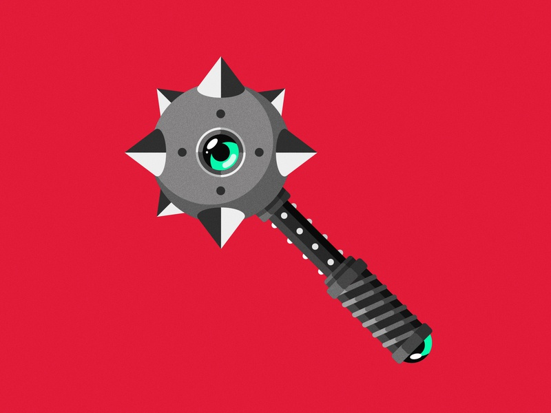 Little Mace dungeons and dragons dungeonsanddragons logo vector illustration medieval fantasy weapon mace