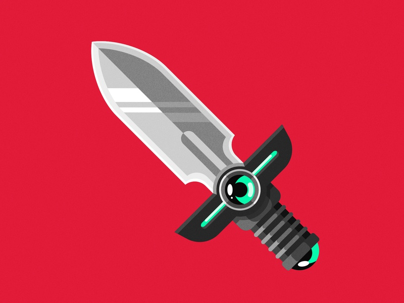Little Sword flat minimal vector loot item dungeons and dragons fantasy item blade video games gamer gaming fantasy dagger knife sword weapon sword and shield