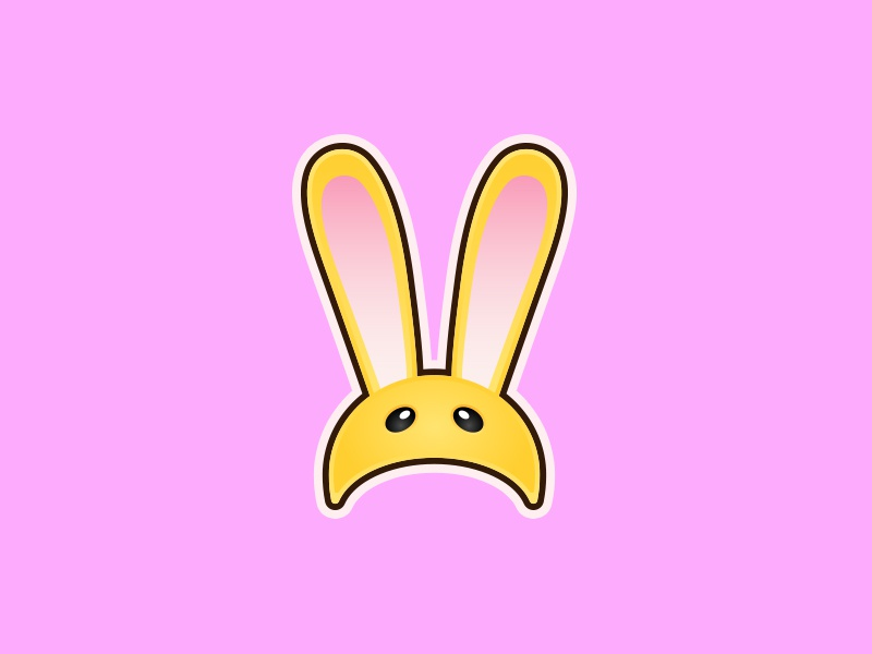 Bunny Hood link the legend of zelda zelda vector art flat minimal vector cute animal rabbits n64 gaming nintendo majora majoras mask rabbit bunny