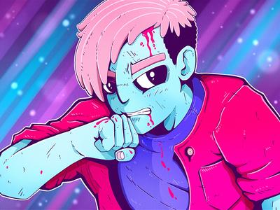 Revenge space cosmic angry comic manga anime hand drawn illustration apple pencil procreate characterdesign character
