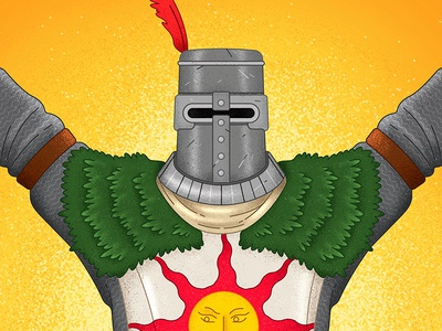 Solaire stipple procreate vector minimal game art bonfire praise the sun solaire video games games gaming from software soulsbourne dark souls