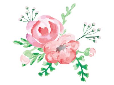 Watercolor Bouquet illustrator illustration watercolor bouquet flower floral flowers
