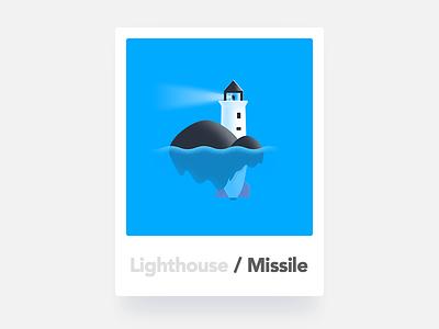 Lighthouse / Missile illustration icon missile lighthouse