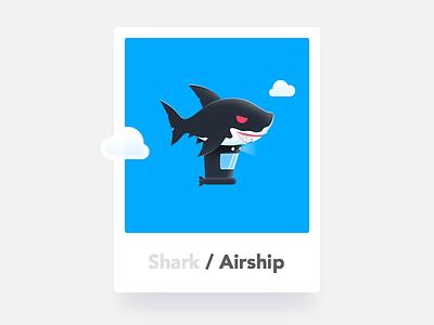 Shark / Airship airship shark illustration icon