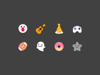 Icon set for musical.ly categories food placeholder sports gaming vlog talent comedy category cute live.ly musical.ly icon