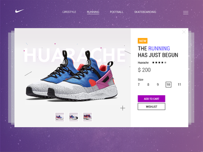 Sneaker's product card free psd concept clean web interface card color future ui nike sneakers psd free