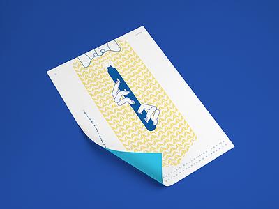 Ukrainian Calendar design clean tradition blue simple illustration line calendar ukraine