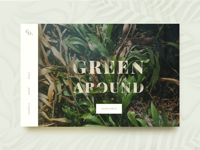 Green Concept ui ux font plants green web photography concept