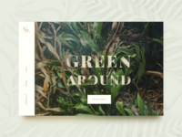 Green Concept ui ux font plants green web photography concept