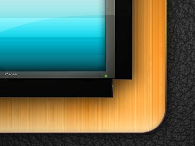 Sample TV 3d render design illustration web icon