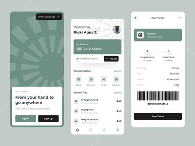 City Transportation - Mobile App design clean application ticket app ticketing mobile design mobile app transportation mobile app graphic design ui