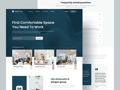 Coworking Space - Landing Page website design website web design creative uidesign userinterface clean homepage coworking uxdesign ux ui webdesign landingpage
