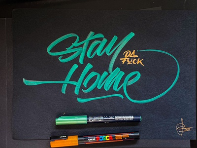 Stay home flattenthecurve stayhome handwriting brush lettering brush and ink brush calligraphy hand lettering brush script
